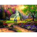 Puzzle  Sunsout-33706 Chuck Pinson - Country Church