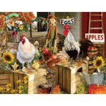 Puzzle  Sunsout-34896 Pièces XXL - Lori Schory - Chickens on the Farm