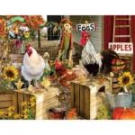 Puzzle  Sunsout-34896 Pièces XXL - Lori Schory - Chickens on the Farm