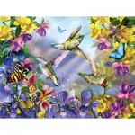 Puzzle  Sunsout-34919 Pièces XXL - Butterflies & Hummingbirds