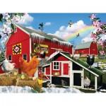 Puzzle  Sunsout-34988 Pièces XXL - Spring Chickens