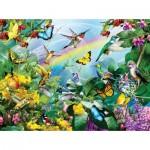 Puzzle  Sunsout-35002 Lori Schory - Hummingbird Sancutary