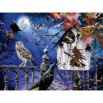 Puzzle  Sunsout-35010 Pièces XXL - Halloween Birdhouse