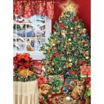 Puzzle  Sunsout-35020 Lori Schory - Cat Tree
