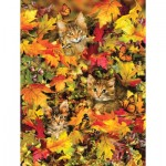 Puzzle  Sunsout-35059 Pièces XXL - Lori Schory - Kitties at Play