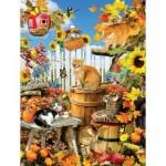 Puzzle  Sunsout-35143 Pièces XXL - Lori Schory - Harvest Kittens