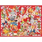 Puzzle  Sunsout-35147 Pièces XXL - Valentine Card Collage