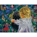 Puzzle  Sunsout-35806 Pièces XXL - Puppy for Christmas