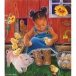 Puzzle  Sunsout-35808 Pièces XXL - Barn Babies