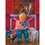 Puzzle  Sunsout-35868 Pièces XXL - Little Farm Friends