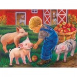Puzzle  Sunsout-35875 Pièces XXL - Little Farm Boy