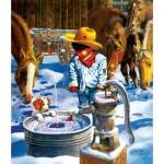 Puzzle  Sunsout-36021 Don Crook - Ice Fishing