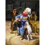 Puzzle  Sunsout-36059 Pièces XXL - Singing Cowboy