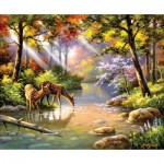 Puzzle  Sunsout-36597 Sung Kim - Doe Re Me Creek