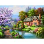 Puzzle  Sunsout-36660 Pièces XXL - Spring Creek Cottage