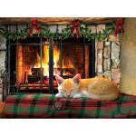 Puzzle  Sunsout-37138 Fireside Snooze