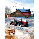 Puzzle  Sunsout-37169 Greg Giordano - Tractor on the Farm