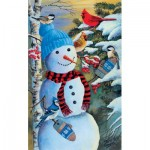 Puzzle  Sunsout-37657 Jeff Renner - Snowman's Party