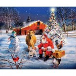 Puzzle  Sunsout-37996 Pièces XXL - Santa at the Farm