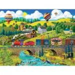 Puzzle  Sunsout-38930 Pièces XXL - Big Top Circus Train