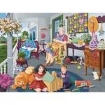 Puzzle  Sunsout-38980 Joseph Burgess - A Visit to Grandma's