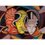 Puzzle  Sunsout-39365 Marcella Muhammad - Society Masks