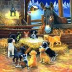 Puzzle  Sunsout-39535 Pièces XXL - Barnyard Nativity