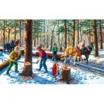Puzzle  Sunsout-39545 Pièces XXL - Lumber Jacks