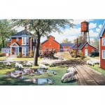 Puzzle  Sunsout-39677 Ken Zylla - Farmyard Companions