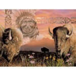 Puzzle  Sunsout-40064 Pièces XXL - Keeper of the Plains