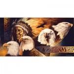 Puzzle  Sunsout-40078 Pièces XXL - Lakota Twilight