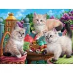 Puzzle  Sunsout-42909 Kitten Tea Party