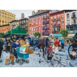 Puzzle  Sunsout-44235 Susan Brabeau - The Streets of New York