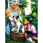 Puzzle  Sunsout-44320 Pièces XXL - Washing the Dog