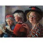 Puzzle  Sunsout-44513 Susan Brabeau - Church Ladies