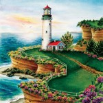 Puzzle  Sunsout-45622 Pièces XXL - Lighthouse Sunset