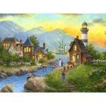 Puzzle  Sunsout-48331 Dennis Lewan - Bayside Afterglow