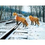 Puzzle  Sunsout-48831 Pièces XXL - Fox Tracks