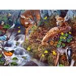 Puzzle  Sunsout-49040 Jerry Gadamus - Fawn Song