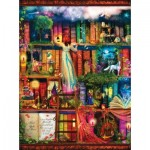 Puzzle  Sunsout-51067 Aimee Stewart - Treasure Hunt Bookshelf