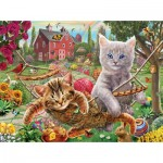 Puzzle  Sunsout-51820 Pièces XXL - Cats on the Farm