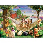 Puzzle  Sunsout-51830 Pièces XXL - Kittens Puppies and Butterflies