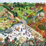 Puzzle  Sunsout-52421 Pièces XXL - Four Seasons Garden