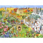 Puzzle  Sunsout-52439 Pièces XXL - English Country Life through the Seasons