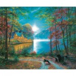 Puzzle  Sunsout-52805 Mark Keathley - Lakeside Dreams
