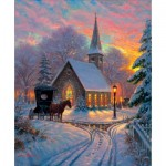 Puzzle  Sunsout-52909 Mark Keathley - Carriage Chapel
