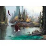 Puzzle  Sunsout-53124 Pièces XXL - Lionel Dougy and T. Atkinson - River Eagles