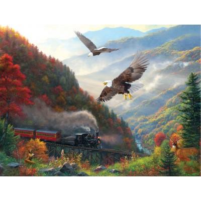 Puzzle Sunsout-53135 Mark Keathley - Great Smoky Mountain Railroad