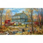 Puzzle  Sunsout-54637 Pièces XXL - Autumn at the Schneider House