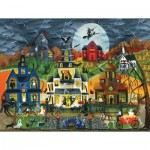 Puzzle  Sunsout-54758 Pièces XXL - Cheryl Bartley - Spooky Street